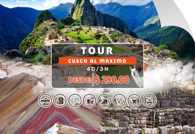 Tour cusco al máximo 4Días/3Nochess